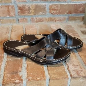 Bass Orly Leather Brown Sandals